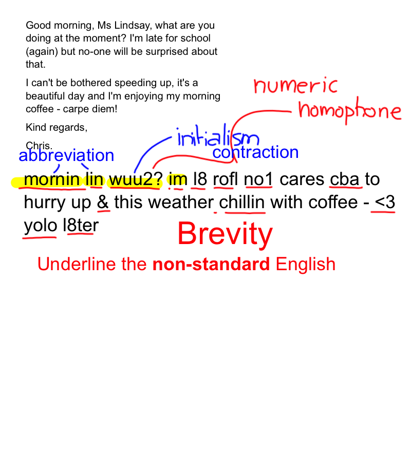 Annotated Example - Text Language