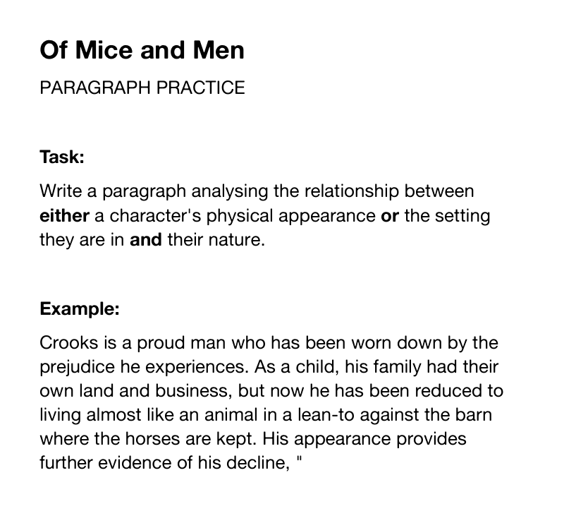 Thematic analysis essay outline of mice and men